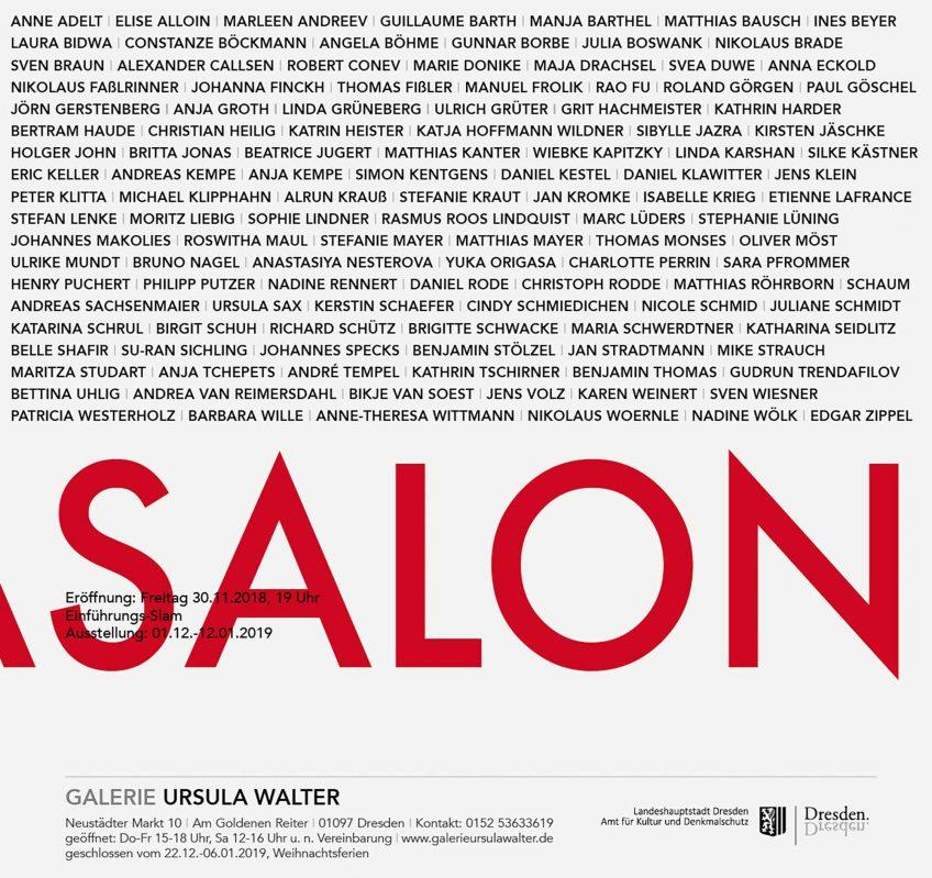 Ursulasalon, Galerie Ursula Walther, 2018